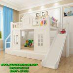 Desain Tempat Tidur Tingkat Prosotan Putih