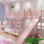 Dipan Tingkat Prosotan Warna Pink Putih