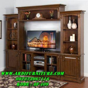 Bufet TV Minimalis Kayu Jati