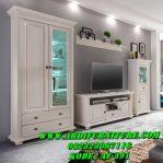 Set Bufet TV Lemari Kaca Minimalis
