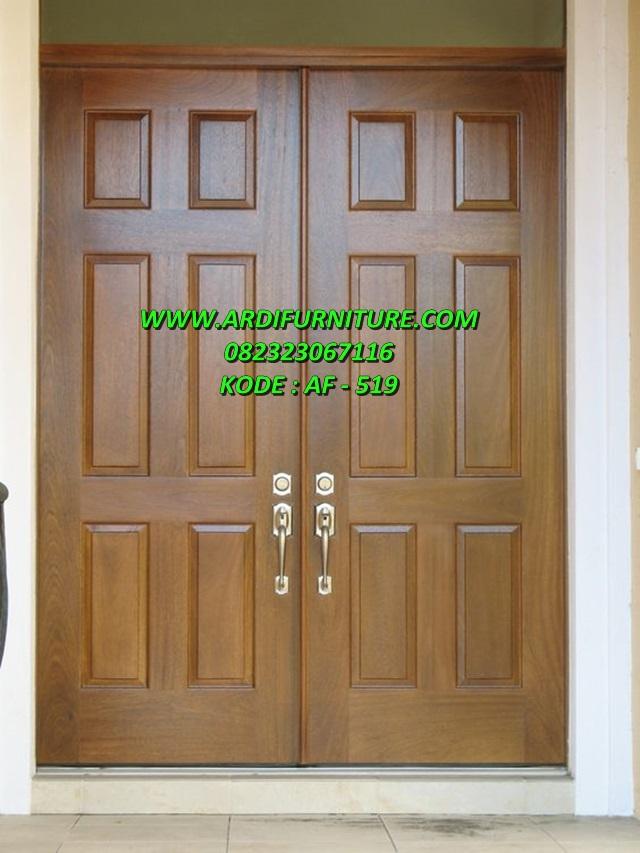 Pintu Rumah Minimalis Modern Kayu Jati Dsain Pintu Rumah Minimalis Ardi Furniture Jepara