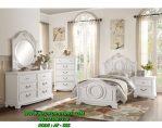 Set Tempat Tidur Minimalis Putih Queen