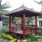 Gazebo Taman Minimalis Kayu Kelapa Atap Sirap