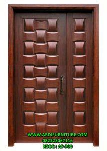 Pintu Rumah Model Anyaman Bambu Desain Terbaru