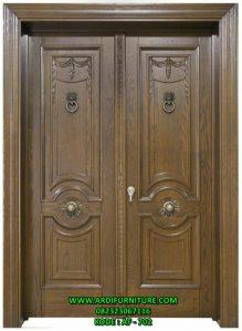 Pintu Rumah Klasik Kupu Tarung Kayu Jati