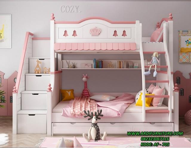 Tempat Tidur Tingkat Anak Perempuan Kekinian
