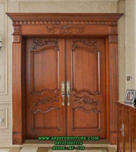 Pintu Kupu Tarung Klasik Kayu Jati TPK