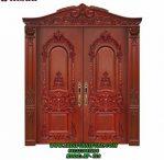 Pintu Kupu Tarung Klasik Vintage Kayu Jati