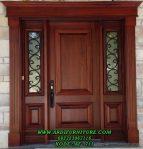 Pintu Rumah Utama Minimalis Kayu Jati